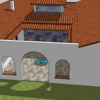 Le patio Nord. Le séjour ouvre sur les deux patios